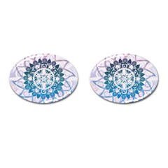 Mandalas Symmetry Meditation Round Cufflinks (oval) by Amaryn4rt