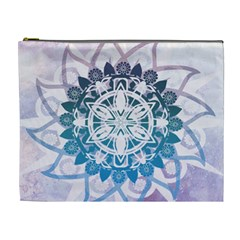 Mandalas Symmetry Meditation Round Cosmetic Bag (xl) by Amaryn4rt