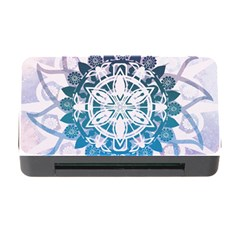 Mandalas Symmetry Meditation Round Memory Card Reader With Cf by Amaryn4rt