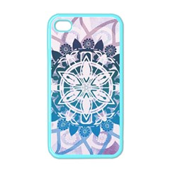 Mandalas Symmetry Meditation Round Apple Iphone 4 Case (color) by Amaryn4rt