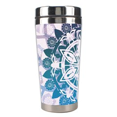 Mandalas Symmetry Meditation Round Stainless Steel Travel Tumblers by Amaryn4rt