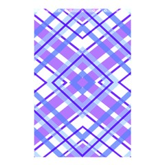 Geometric Plaid Pale Purple Blue Shower Curtain 48  X 72  (small)  by Amaryn4rt