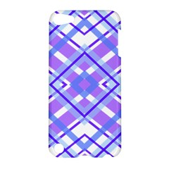 Geometric Plaid Pale Purple Blue Apple Ipod Touch 5 Hardshell Case by Amaryn4rt