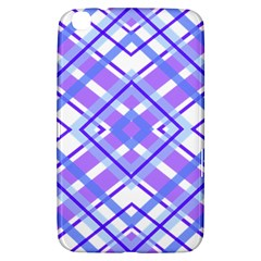 Geometric Plaid Pale Purple Blue Samsung Galaxy Tab 3 (8 ) T3100 Hardshell Case  by Amaryn4rt