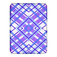 Geometric Plaid Pale Purple Blue Samsung Galaxy Tab 4 (10 1 ) Hardshell Case  by Amaryn4rt
