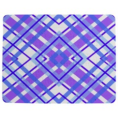 Geometric Plaid Pale Purple Blue Jigsaw Puzzle Photo Stand (rectangular) by Amaryn4rt