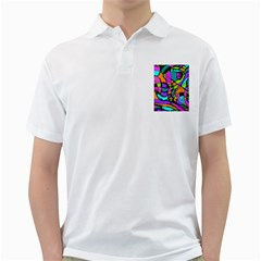 Abstract Art Squiggly Loops Multicolored Golf Shirts