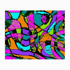 Abstract Art Squiggly Loops Multicolored Small Glasses Cloth by EDDArt