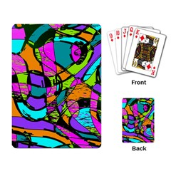 Abstract Art Squiggly Loops Multicolored Playing Card