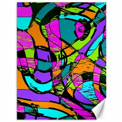 Abstract Art Squiggly Loops Multicolored Canvas 36  X 48   by EDDArt