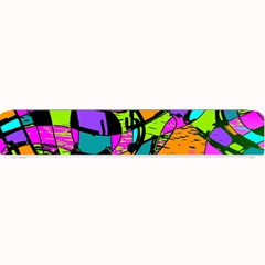 Abstract Art Squiggly Loops Multicolored Small Bar Mats by EDDArt