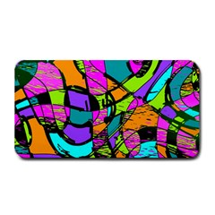 Abstract Art Squiggly Loops Multicolored Medium Bar Mats by EDDArt
