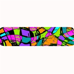 Abstract Art Squiggly Loops Multicolored Large Bar Mats by EDDArt