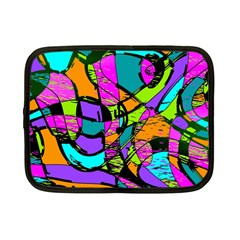 Abstract Art Squiggly Loops Multicolored Netbook Case (small)  by EDDArt
