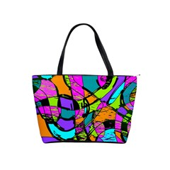 Abstract Art Squiggly Loops Multicolored Shoulder Handbags