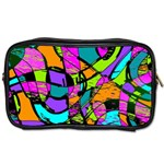 Abstract Art Squiggly Loops Multicolored Toiletries Bags 2-Side Front