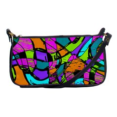 Abstract Art Squiggly Loops Multicolored Shoulder Clutch Bags