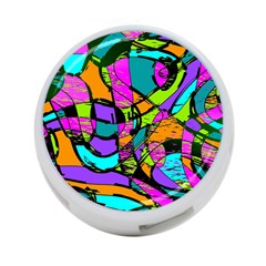 Abstract Art Squiggly Loops Multicolored 4 Port Usb Hub (two Sides)  by EDDArt