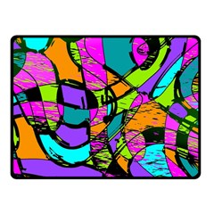 Abstract Art Squiggly Loops Multicolored Fleece Blanket (small)
