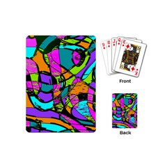 Abstract Art Squiggly Loops Multicolored Playing Cards (mini)  by EDDArt