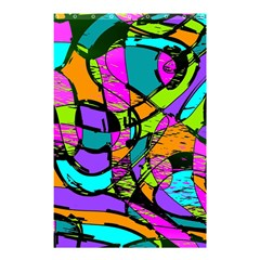 Abstract Art Squiggly Loops Multicolored Shower Curtain 48  X 72  (small)  by EDDArt