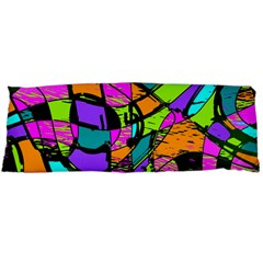 Abstract Art Squiggly Loops Multicolored Body Pillow Case (dakimakura) by EDDArt