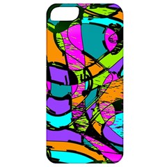 Abstract Art Squiggly Loops Multicolored Apple Iphone 5 Classic Hardshell Case by EDDArt