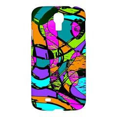 Abstract Art Squiggly Loops Multicolored Samsung Galaxy S4 I9500/i9505 Hardshell Case by EDDArt