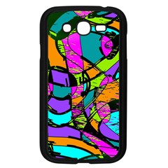 Abstract Art Squiggly Loops Multicolored Samsung Galaxy Grand Duos I9082 Case (black) by EDDArt