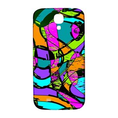 Abstract Art Squiggly Loops Multicolored Samsung Galaxy S4 I9500/i9505  Hardshell Back Case by EDDArt