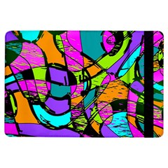Abstract Art Squiggly Loops Multicolored Ipad Air Flip by EDDArt