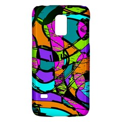 Abstract Art Squiggly Loops Multicolored Galaxy S5 Mini by EDDArt