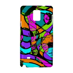 Abstract Art Squiggly Loops Multicolored Samsung Galaxy Note 4 Hardshell Case by EDDArt
