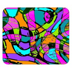 Abstract Art Squiggly Loops Multicolored Double Sided Flano Blanket (small)  by EDDArt