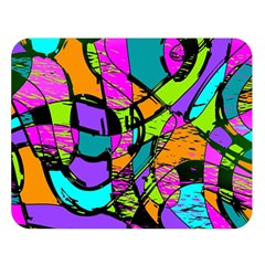 Abstract Art Squiggly Loops Multicolored Double Sided Flano Blanket (large)