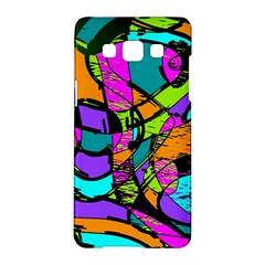 Abstract Art Squiggly Loops Multicolored Samsung Galaxy A5 Hardshell Case  by EDDArt
