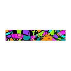 Abstract Art Squiggly Loops Multicolored Flano Scarf (mini) by EDDArt