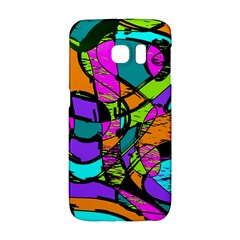 Abstract Art Squiggly Loops Multicolored Galaxy S6 Edge by EDDArt