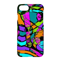 Abstract Art Squiggly Loops Multicolored Apple Iphone 7 Hardshell Case by EDDArt