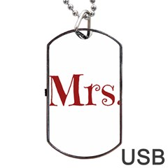 Future Mrs  Moore Dog Tag Usb Flash (one Side) by badwolf1988store