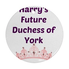 Harry s Duchess Round Ornament (two Sides) by badwolf1988store