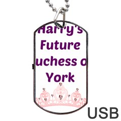 Harry s Duchess Dog Tag Usb Flash (one Side) by badwolf1988store