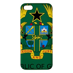 National Seal Of Ghana Apple Iphone 5 Premium Hardshell Case by abbeyz71