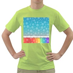 Rainbow Background Border Colorful Green T Shirt
