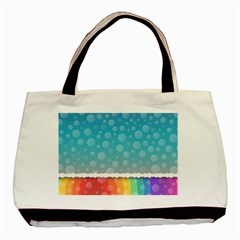 Rainbow Background Border Colorful Basic Tote Bag