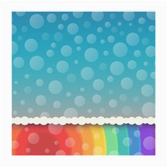 Rainbow Background Border Colorful Medium Glasses Cloth