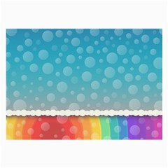 Rainbow Background Border Colorful Large Glasses Cloth by Amaryn4rt