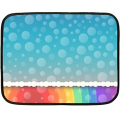 Rainbow Background Border Colorful Double Sided Fleece Blanket (mini)  by Amaryn4rt