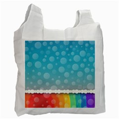 Rainbow Background Border Colorful Recycle Bag (two Side)  by Amaryn4rt