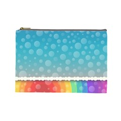 Rainbow Background Border Colorful Cosmetic Bag (large)